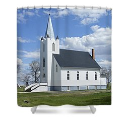 Shower Curtain featuring the photograph Yellow Grass Church - Saskatchewan - Canada by Phil Banks