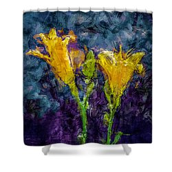 Yellow Lilies. Shower Curtain