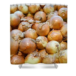 Shower Curtain featuring the photograph Yellow Onions by Emmy Marie Vickers
