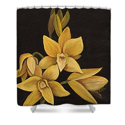 Yellow Orchid Shower Curtain