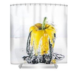 Yellow Pepper Rocket Shower Curtain