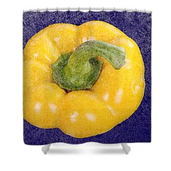Shower Curtain featuring the photograph Yellow Bell Pepper by Vizual Studio