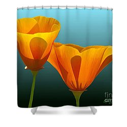 Yellow Poppies Shower Curtain