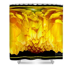 Yellow Ranunculus Abstract Shower Curtain by Rose Santuci-Sofranko
