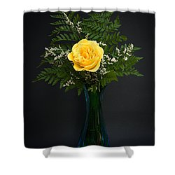 Yellow Rose Shower Curtain by Kenneth Cole