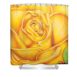 Yellow Rose Of Texas Shower Curtain by Darren Robinson