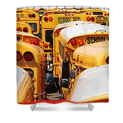 Yellow School Bus Shower Curtain