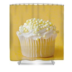 Yellow Sprinkles Shower Curtain