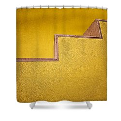 Yellow Steps Shower Curtain by Melinda Ledsome