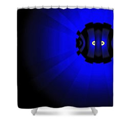 Yellow Submariner Shower Curtain by GJ Blackman