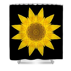 Yellow Sunflower X Flower Mandala Shower Curtain