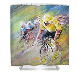 Yellow Triumph Shower Curtain