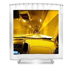 Yellow Tubes Shower Curtain