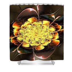 Yellow Water Lily Shower Curtain by Anastasiya Malakhova