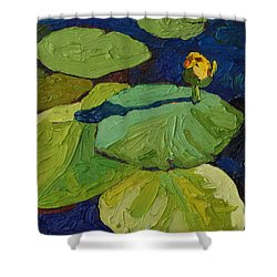 Yellow Waterlily Shower Curtain by Phil Chadwick