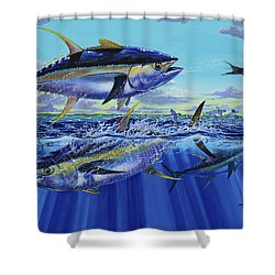 Yellowfin Bust Off0083 Shower Curtain by Carey Chen
