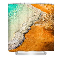 Yellowstone Abstract Shower Curtain by Sebastian Musial