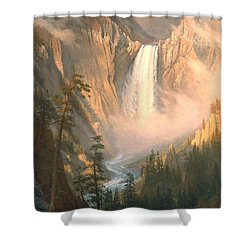 Yellowstone Shower Curtain by Albert Bierstadt