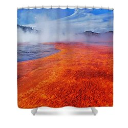 Yellowstone Basin Shower Curtain by Benjamin Yeager