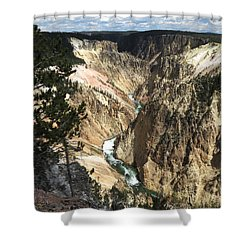 Yellowstone Canyon Shower Curtain by Laurel Powell