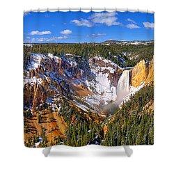 Yellowstone Canyon Panorama Shower Curtain