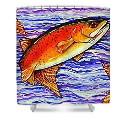 Yellowstone Cutthroat Shower Curtain by Jackie Carpenter