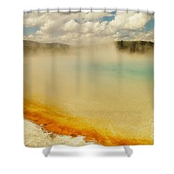 Yellowstone Hot Springs Shower Curtain by Jeff Swan
