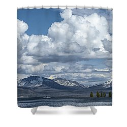 Yellowstone Lake Cloudscape Shower Curtain by Sandra Bronstein