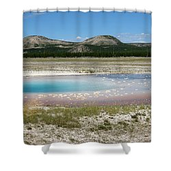 Yellowstone Landscape Shower Curtain by Laurel Powell