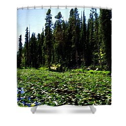 Yellowstone Lily Pads  Shower Curtain