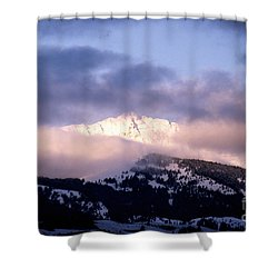 Yellowstone Morning Shower Curtain by Sharon Elliott