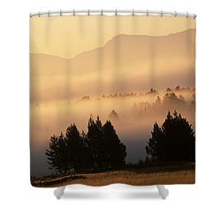 Yellowstone Sunrise Shower Curtain