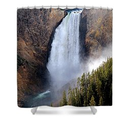Shower Curtain featuring the photograph Lower Yellowstone Falls by Athena Mckinzie