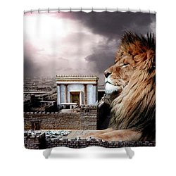 Yeshua In The Outer Court Shower Curtain by Bill Stephens