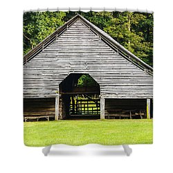 Yesterdays Barn Shower Curtain