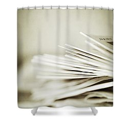 Shower Curtain featuring the photograph Yesterday's News by Trish Mistric