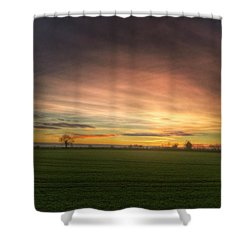 Yesterday's Sunset Shower Curtain by Vicki Field
