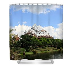 Shower Curtain featuring the photograph Yeti Country by David Nicholls