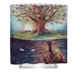 Yggdrasil - The Last Refuge Shower Curtain by Samantha Geernaert