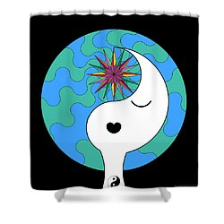 Yin Yang Crown 4 Shower Curtain