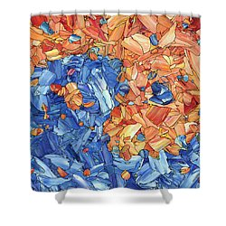 Shower Curtain featuring the painting Yin-yang by James W Johnson