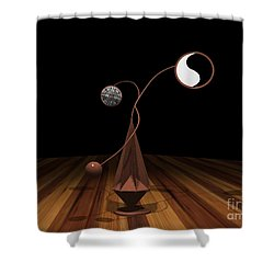 Ying And Yang Shower Curtain by Peter Piatt
