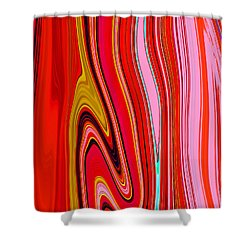 Shower Curtain featuring the painting Yipes Stripes  C2014 by Paul Ashby