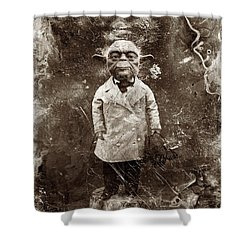 Yoda Star Wars Antique Photo Shower Curtain by Tony Rubino