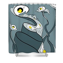 Yoked Shower Curtain