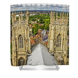 York From York Minster Tower Shower Curtain