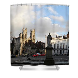 York Gallery Square Shower Curtain by Neil Finnemore