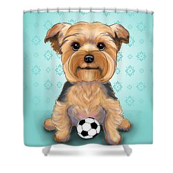 Yorkie  Baxter Hemenway Shower Curtain
