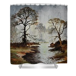 Yorkshire Dales Shower Curtain by Jean Walker
