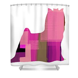 Yorkshire Terrier Shower Curtain by Naxart Studio